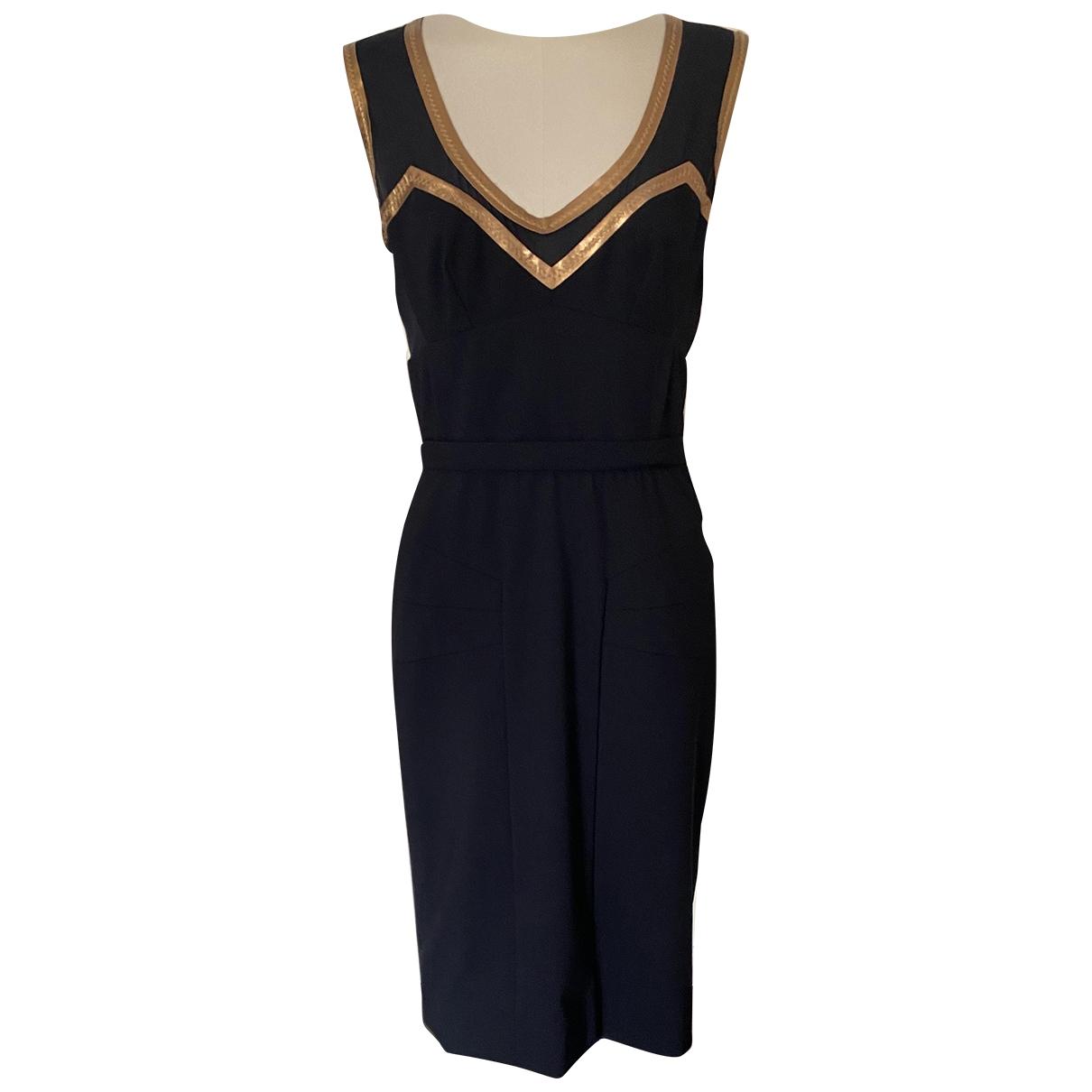 Dolce & Gabbana - Robe   pour femme en laine - noir