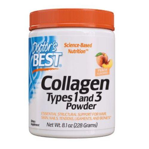 Collagen Types 1 & 3 Powder Peach Flavored 228 Grams by Doctors Best