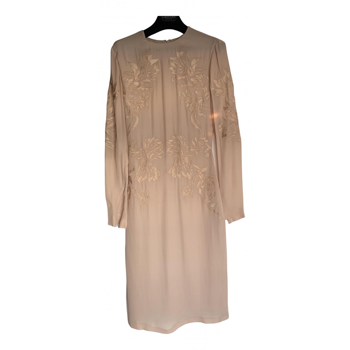 Francesco Scognamiglio \N Kleid in  Beige Seide