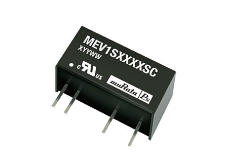 Murata Power Solutions MEV1 1W Isolated DC-DC Converter Through Hole, Voltage in 43.2 → 52.8 V dc, Voltage out