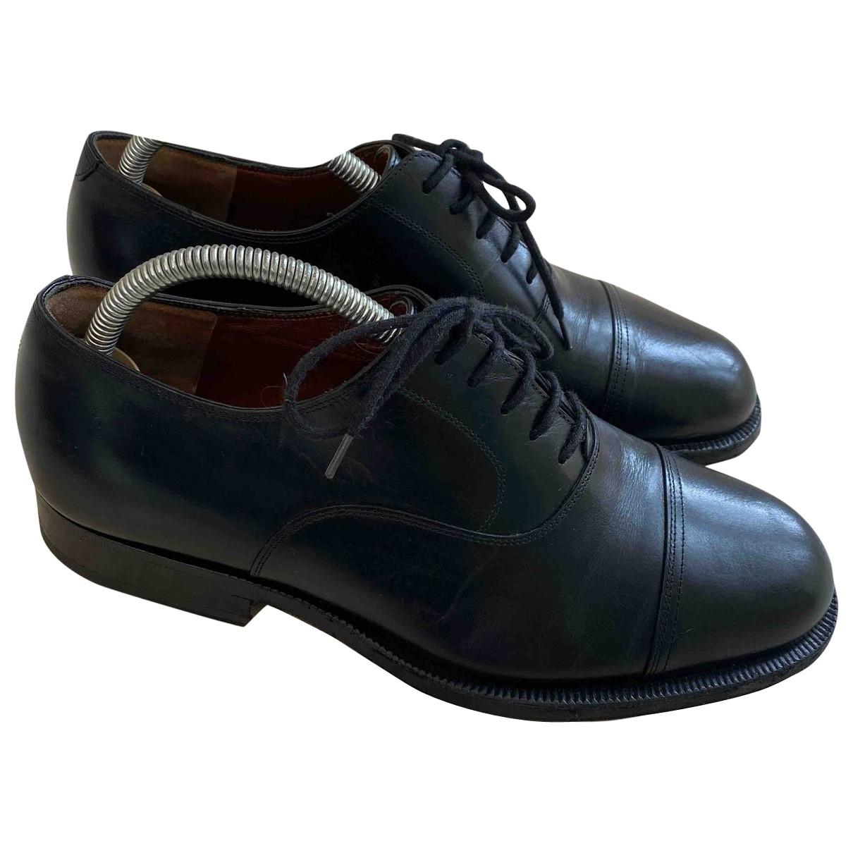Fratelli Rossetti - Derbies   pour homme en cuir - noir