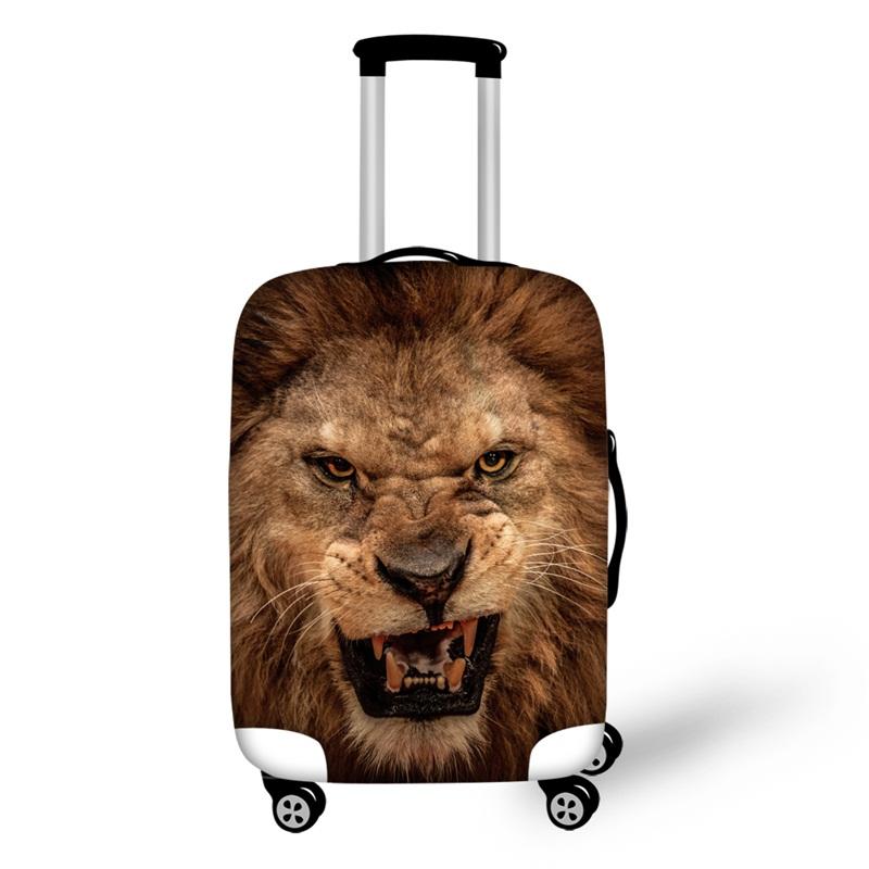 3D Pattern Lion Ferocious Waterproof Suitcase Protector 19 20 21