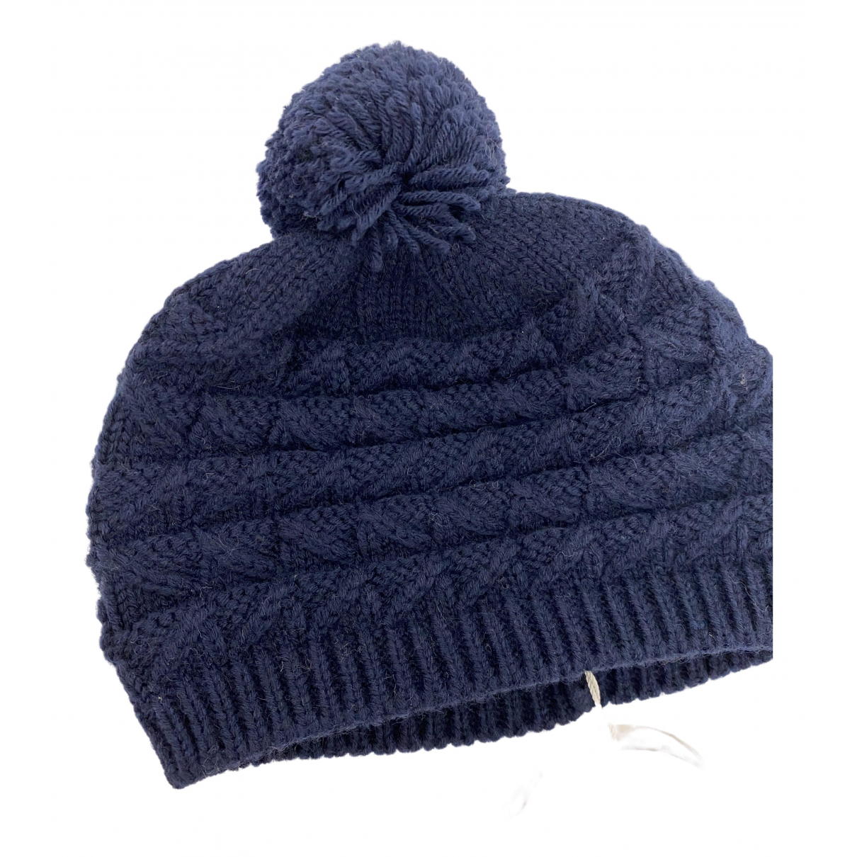 Bonnet A Pompon N Navy Wool hat & Gloves for Kids N
