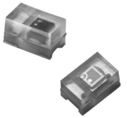 Vishay TEMT6200FX01 , 120 ° Visible Light Phototransistor, Surface Mount 2-Pin (10)