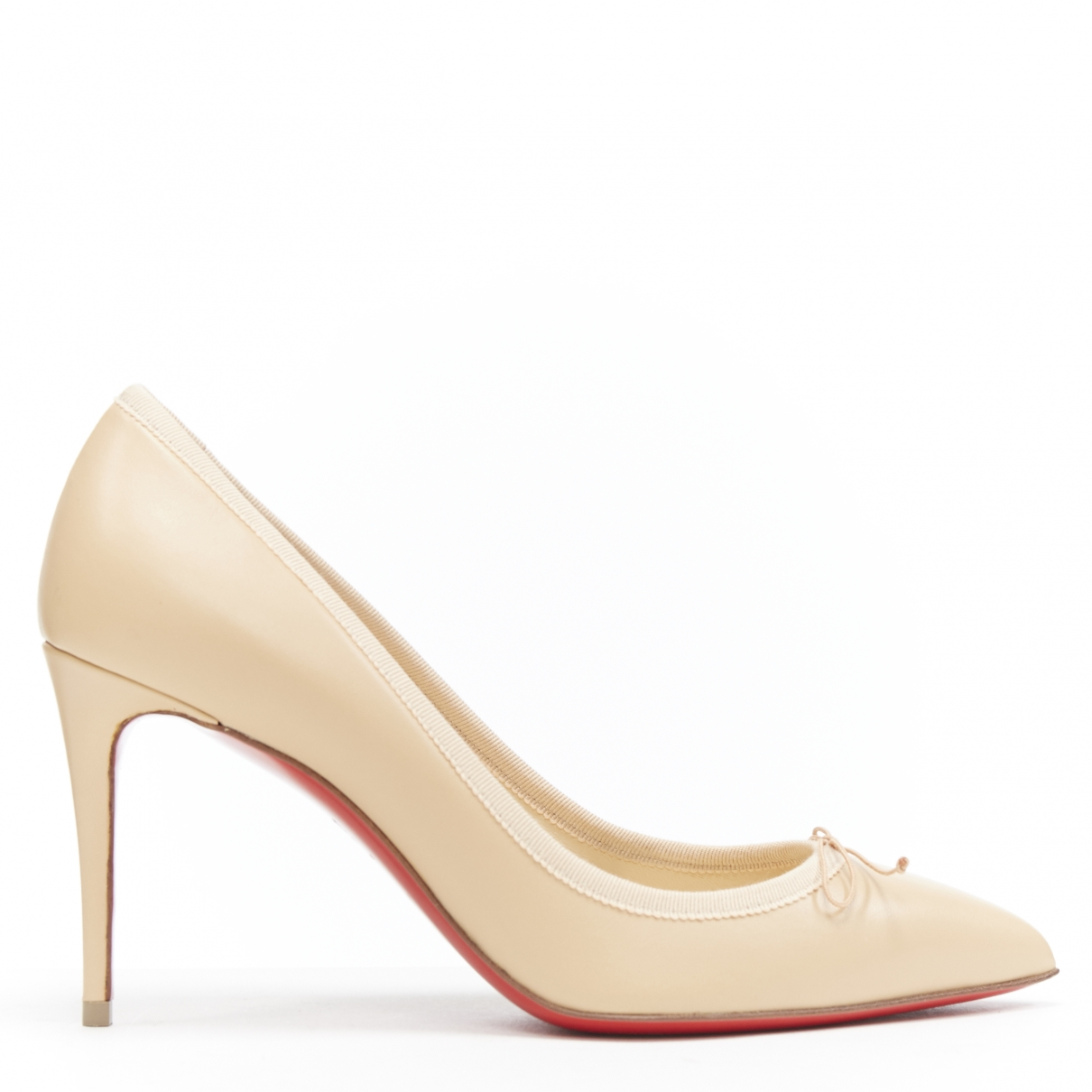 Christian Louboutin \N Pumps in  Beige Leder