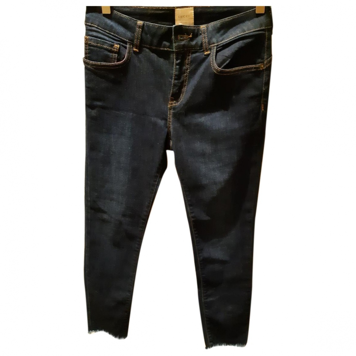 Gucci \N Blue Cotton Jeans for Women 29 US