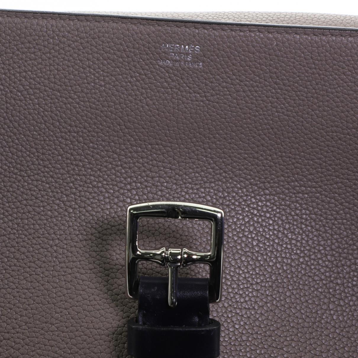 Hermès \N Grey Leather handbag for Women \N