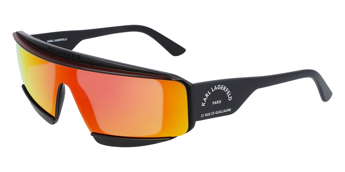 Karl Lagerfeld KL 6037S 002 Men's Sunglasses Black Size 66