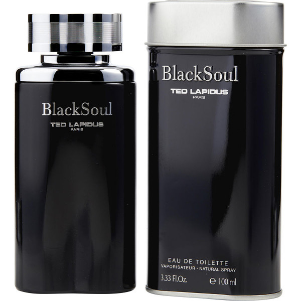 Ted Lapidus - Black Soul : Eau de Toilette Spray 3.4 Oz / 100 ml