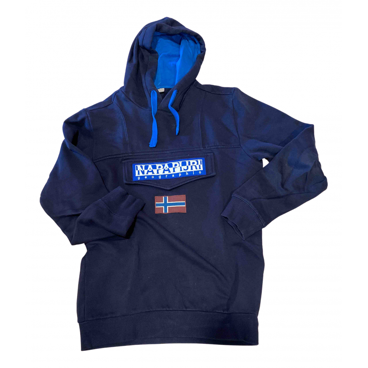 Napapijri \N Pullover.Westen.Sweatshirts  in  Marine Baumwolle