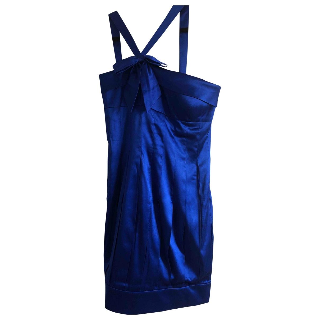 Aidan Mattox \N Blue Silk dress for Women 6 US