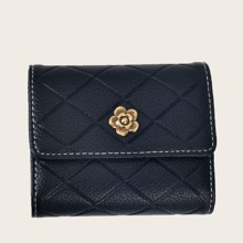 Quilted Short Purse With Card Holder