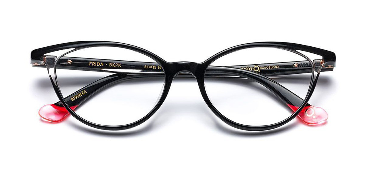 Etnia Barcelona Frida BKPK Women's Glasses Black Size 51 - Free Lenses - HSA/FSA Insurance - Blue Light Block Available