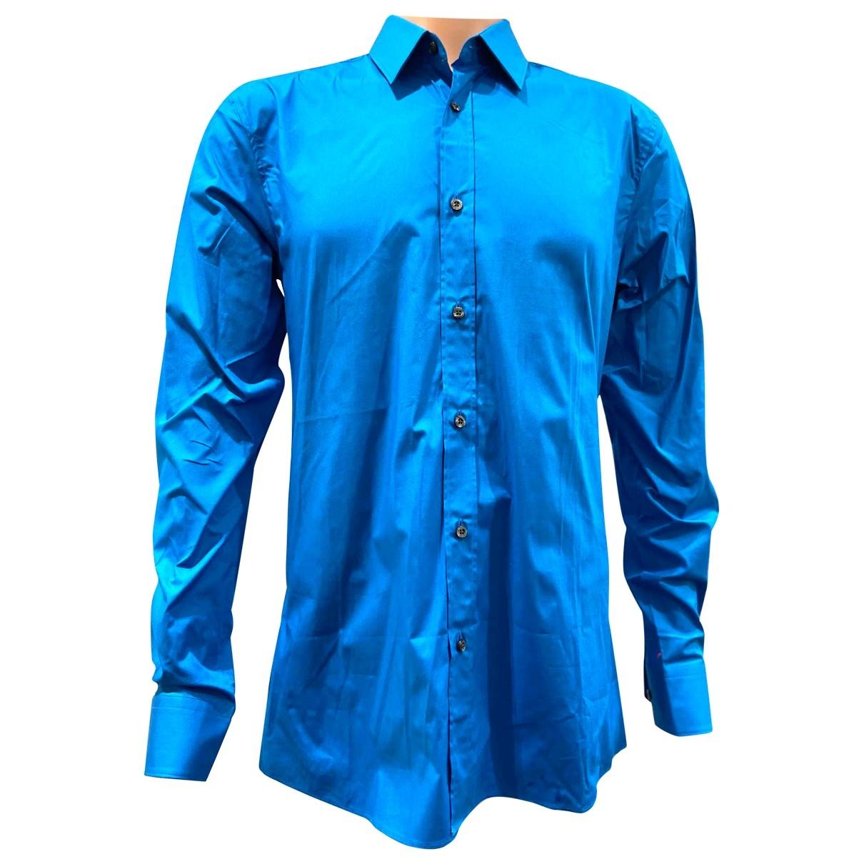 Hugo Boss \N Hemden in  Blau Baumwolle