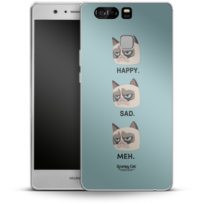 Huawei P9 Silikon Handyhuelle - Facial Expressions von Grumpy Cat
