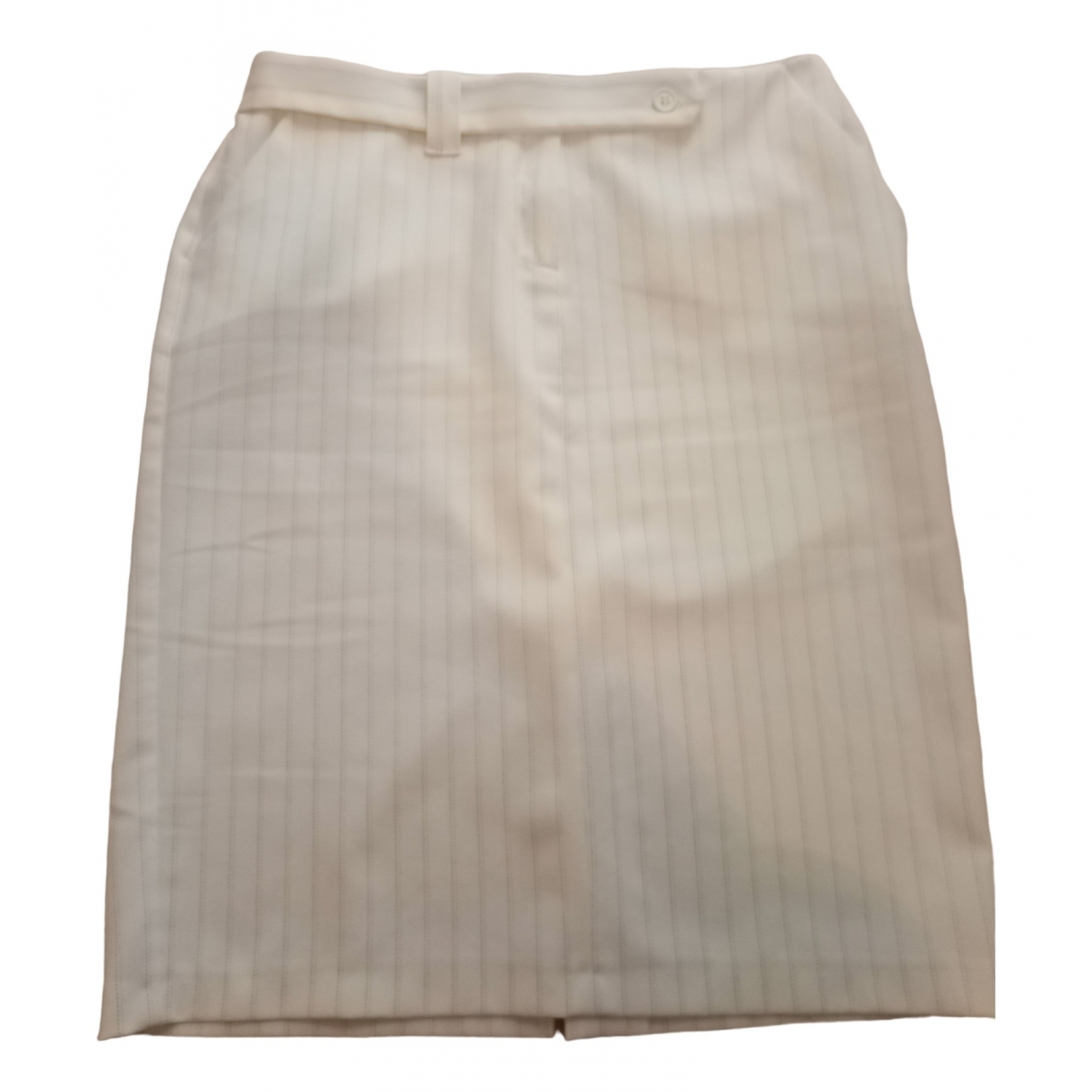 Non Signé / Unsigned \N White skirt for Women 42 IT