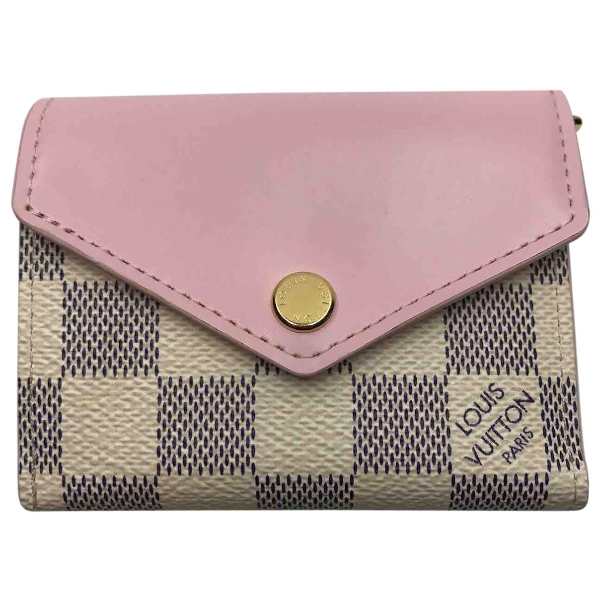 Louis Vuitton - Petite maroquinerie   pour homme en toile - rose