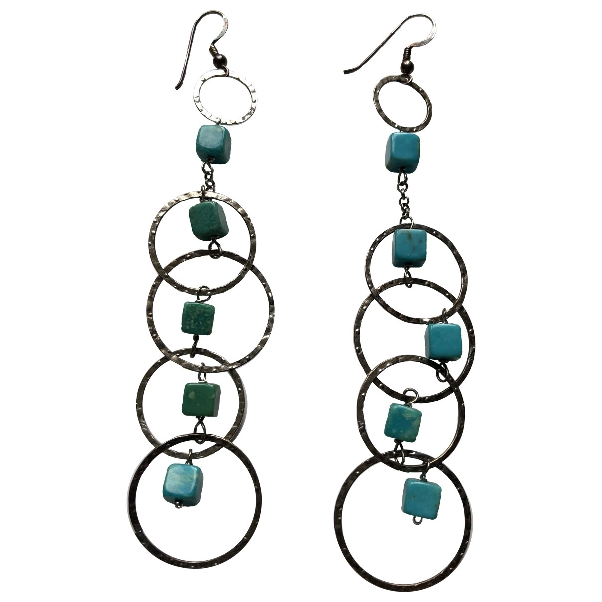 Non Signé / Unsigned Turquoises Turquoise Silver Earrings for Women \N