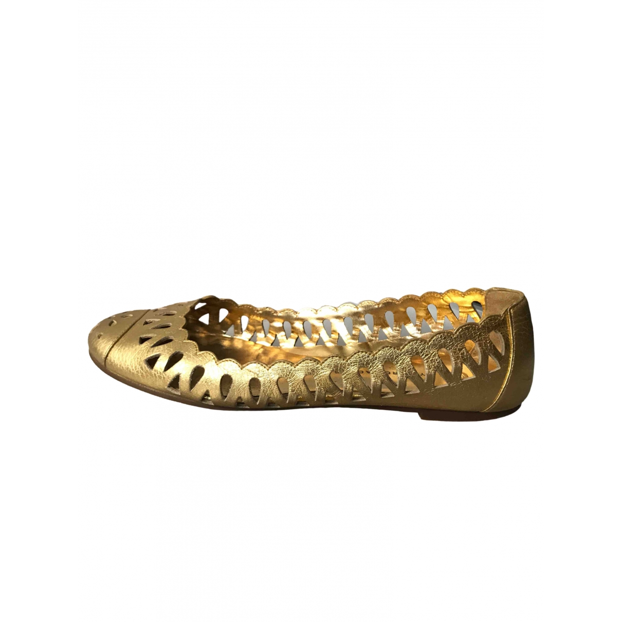 Marc By Marc Jacobs \N Gold Leather Ballet flats for Women 38 EU