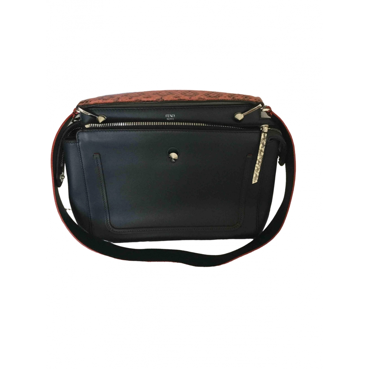 Fendi Dot Com Navy Leather handbag for Women \N