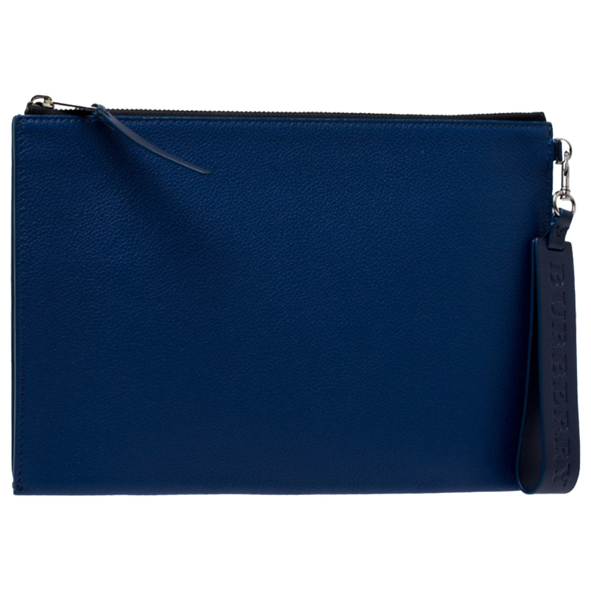 Burberry \N Blue Leather Small bag, wallet & cases for Men \N