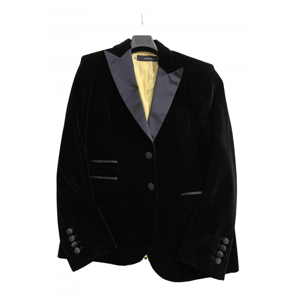 Dsquared2 N Black Velvet jacket  for Men 54 IT