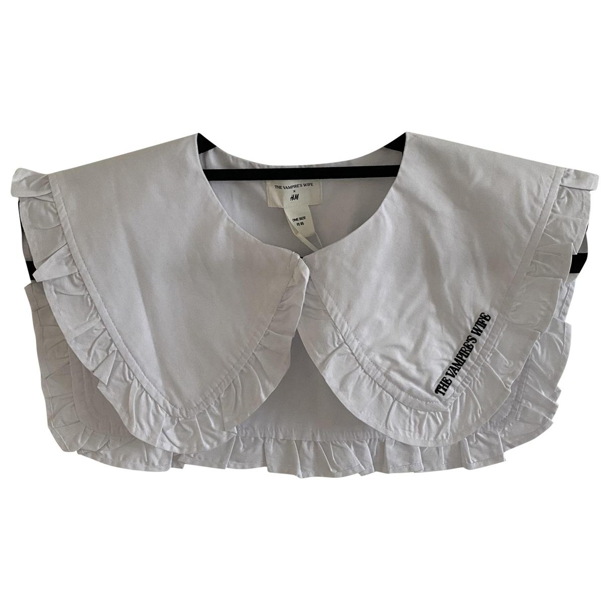 The Vampire's Wife X H&m - Foulard   pour femme en coton - blanc