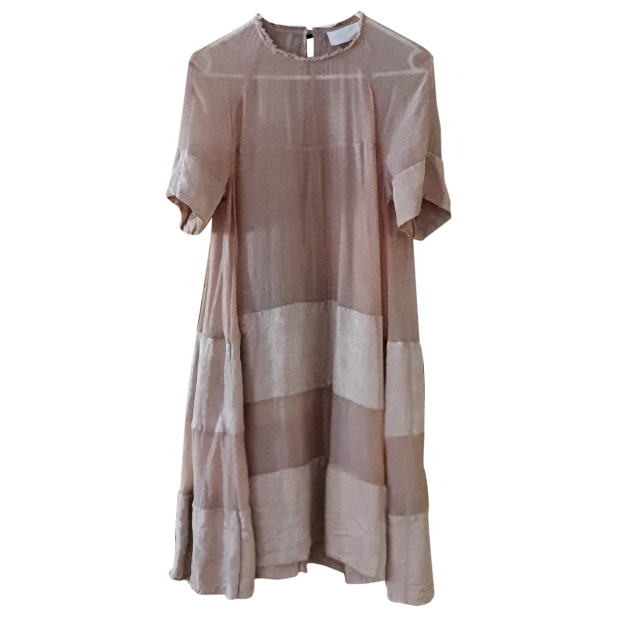 H&m Conscious Exclusive \N Kleid in  Beige Polyester