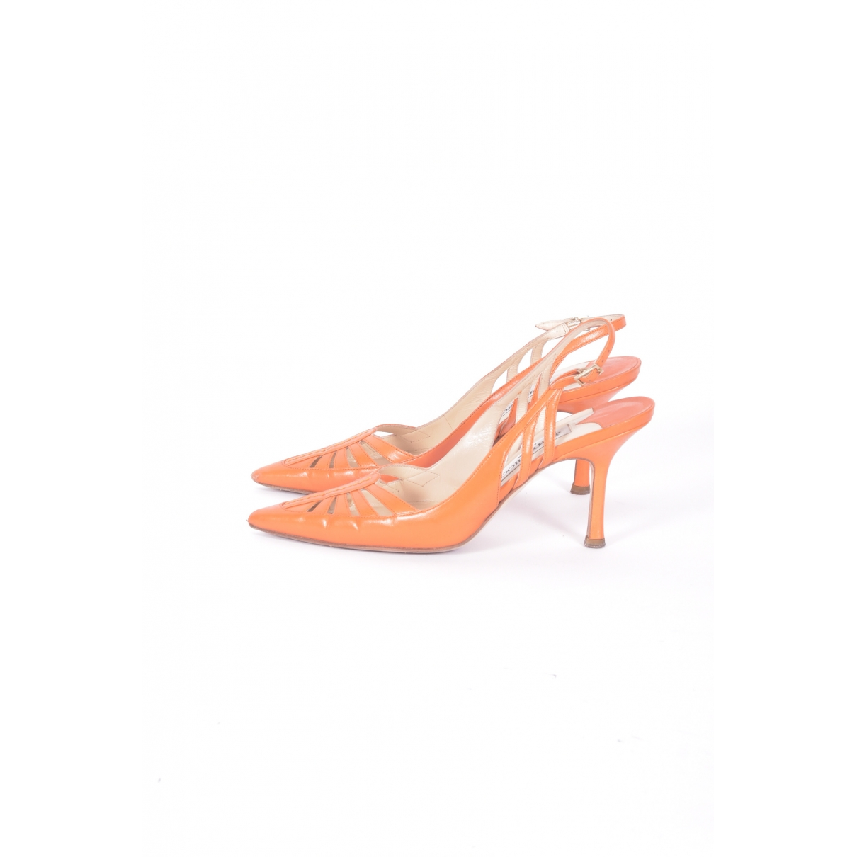Jimmy Choo \N Sandalen in  Orange Lackleder