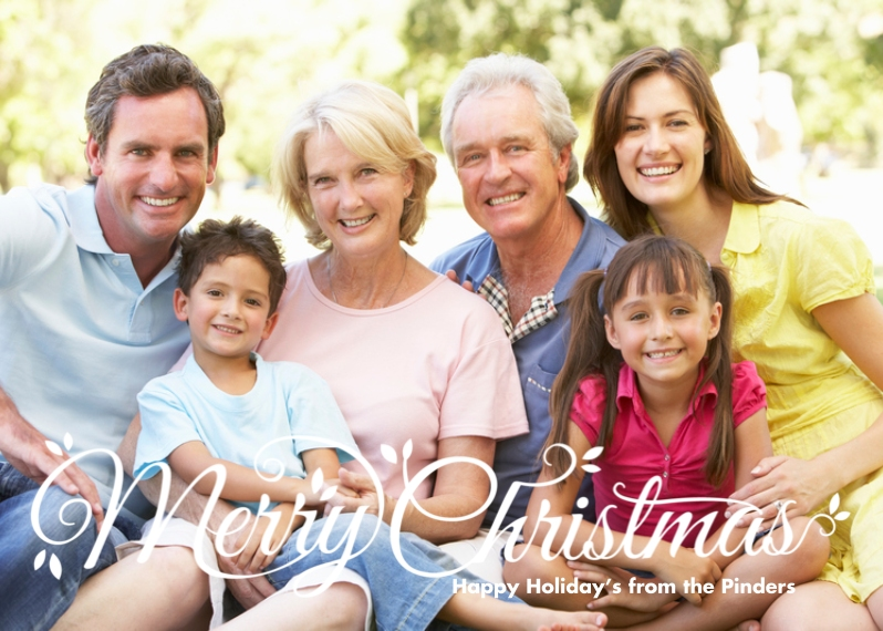 Christmas Photo Cards 5x7 Cards, Premium Cardstock 120lb with Scalloped Corners, Card & Stationery -Script Merry Christmas