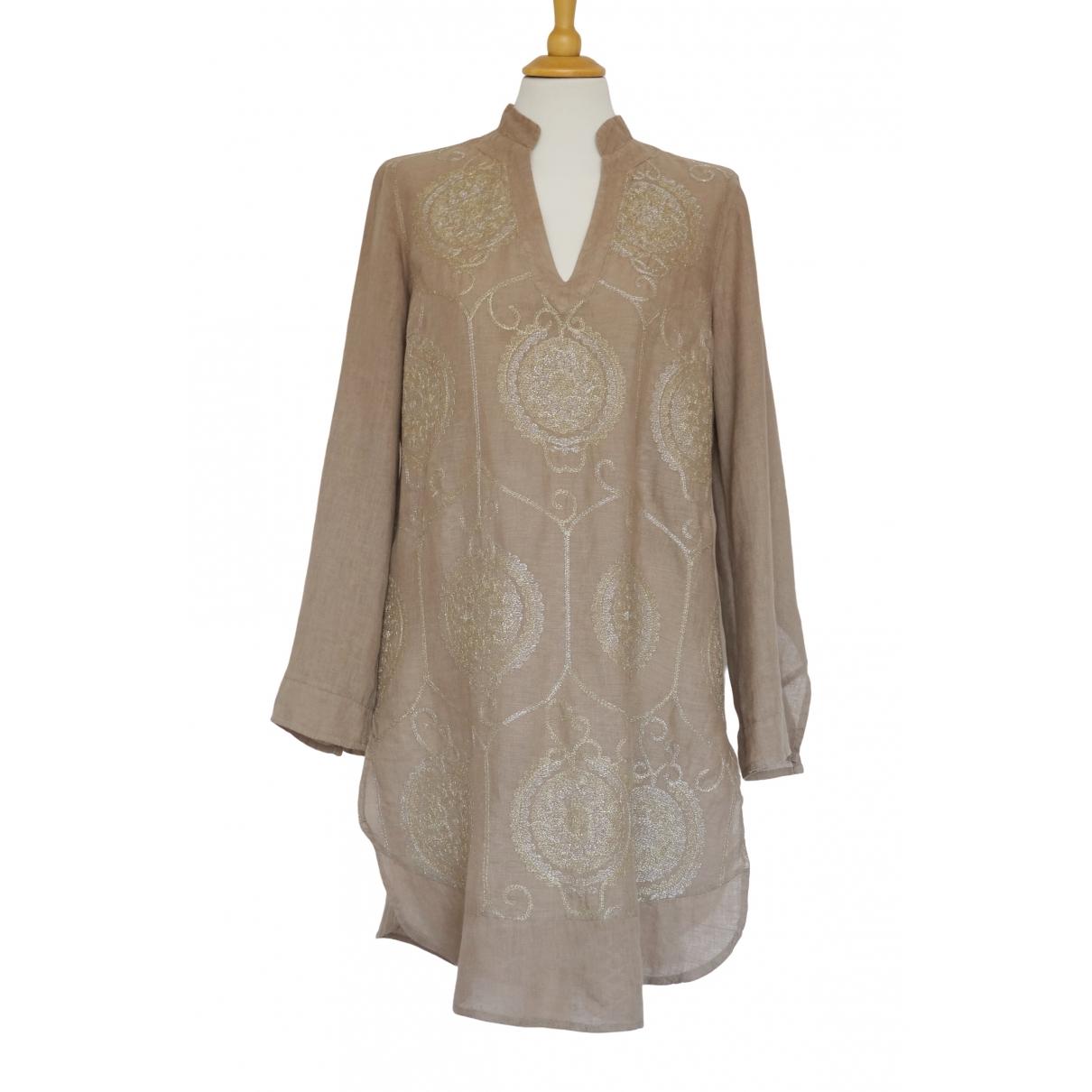 120% Lino \N Beige Linen dress for Women 44 IT