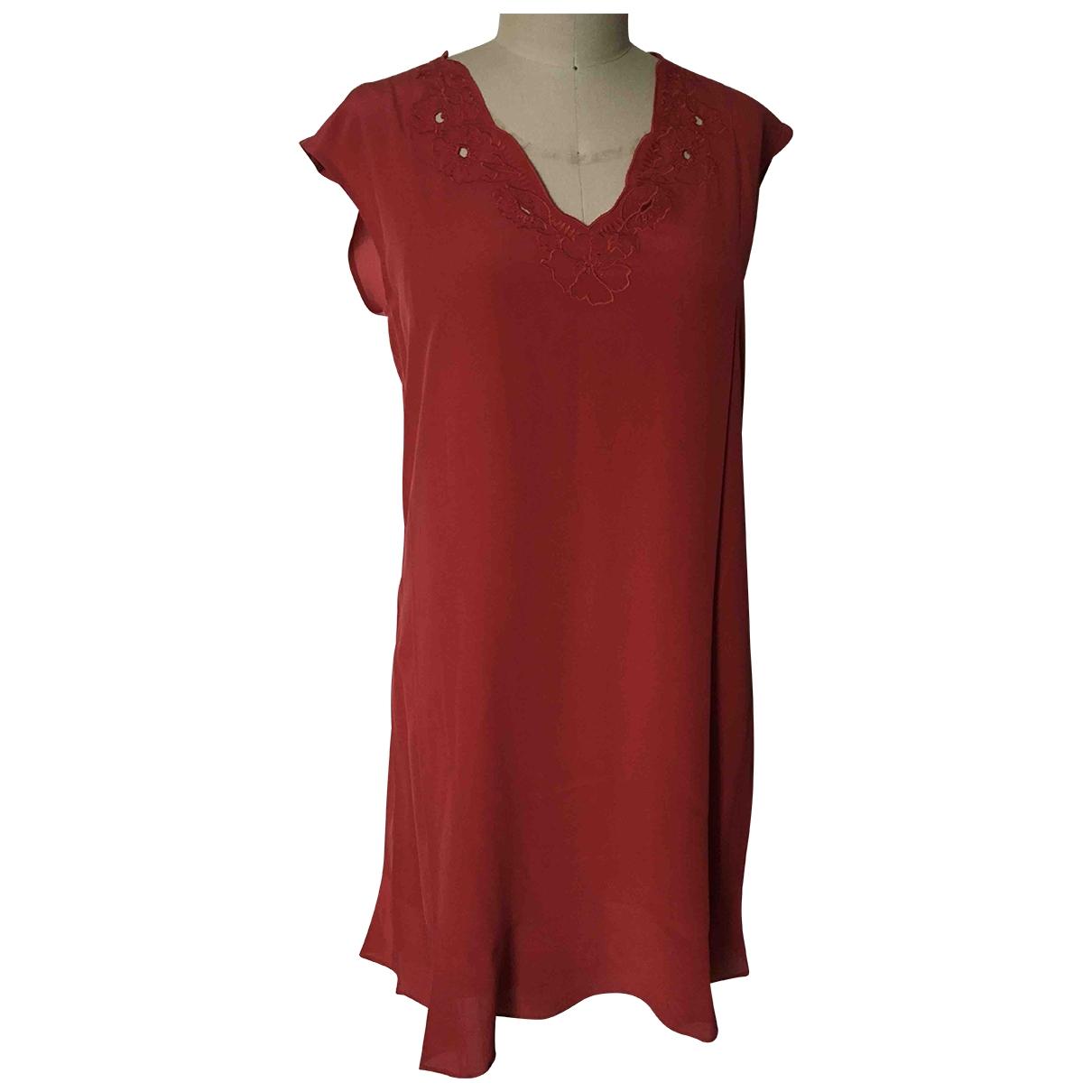 Comptoir Des Cotonniers - Robe   pour femme en soie - rouge