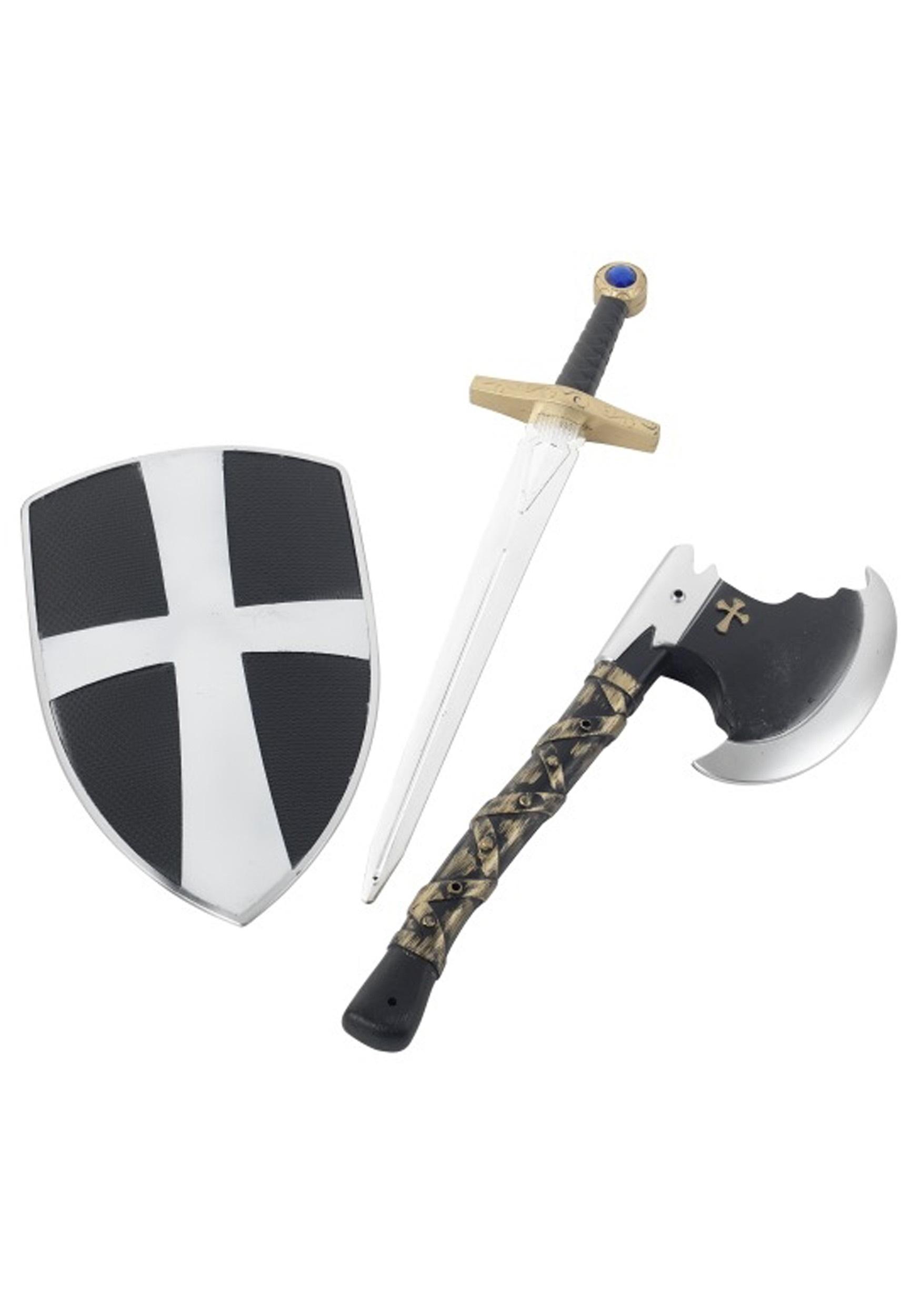 3 Piece Crusader Prop Weapon Set