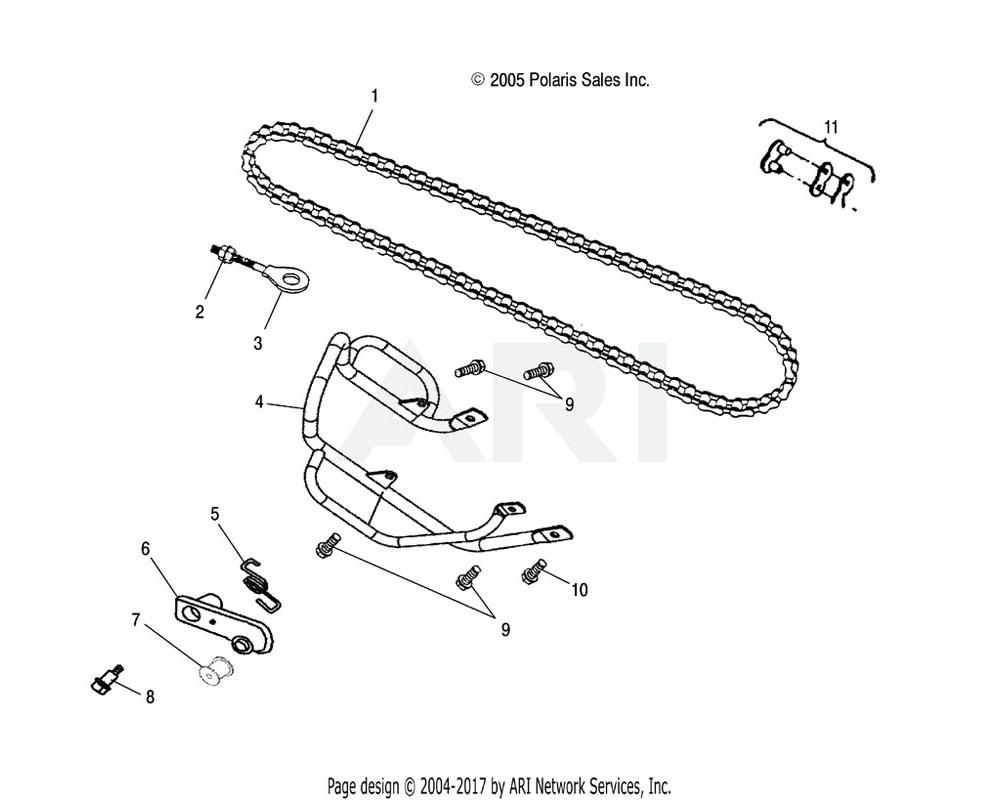 Polaris OEM 0453038 Link, Master, Drive Chain