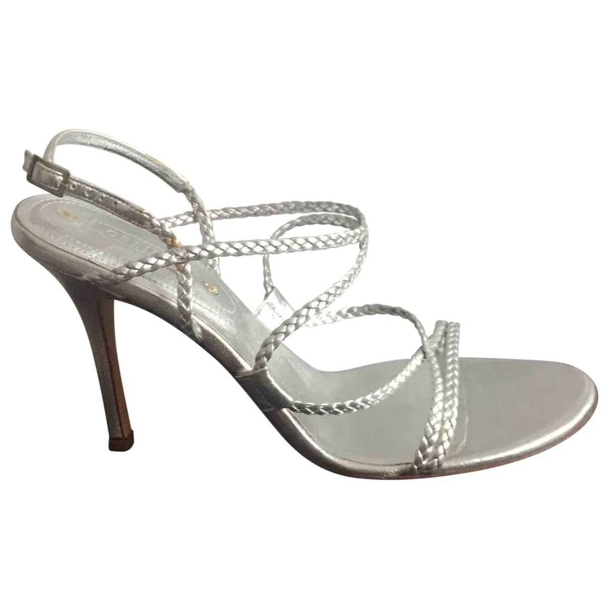 Celine - Sandales   pour femme en cuir - argente