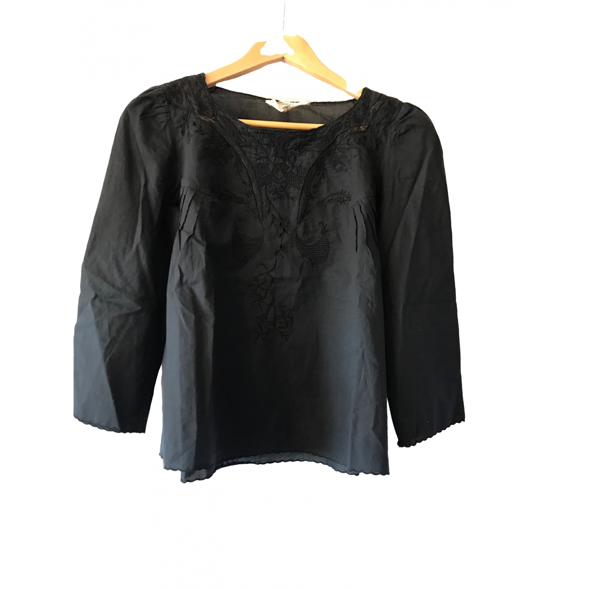 Vanessa Bruno Athe - Top   pour femme en coton - noir