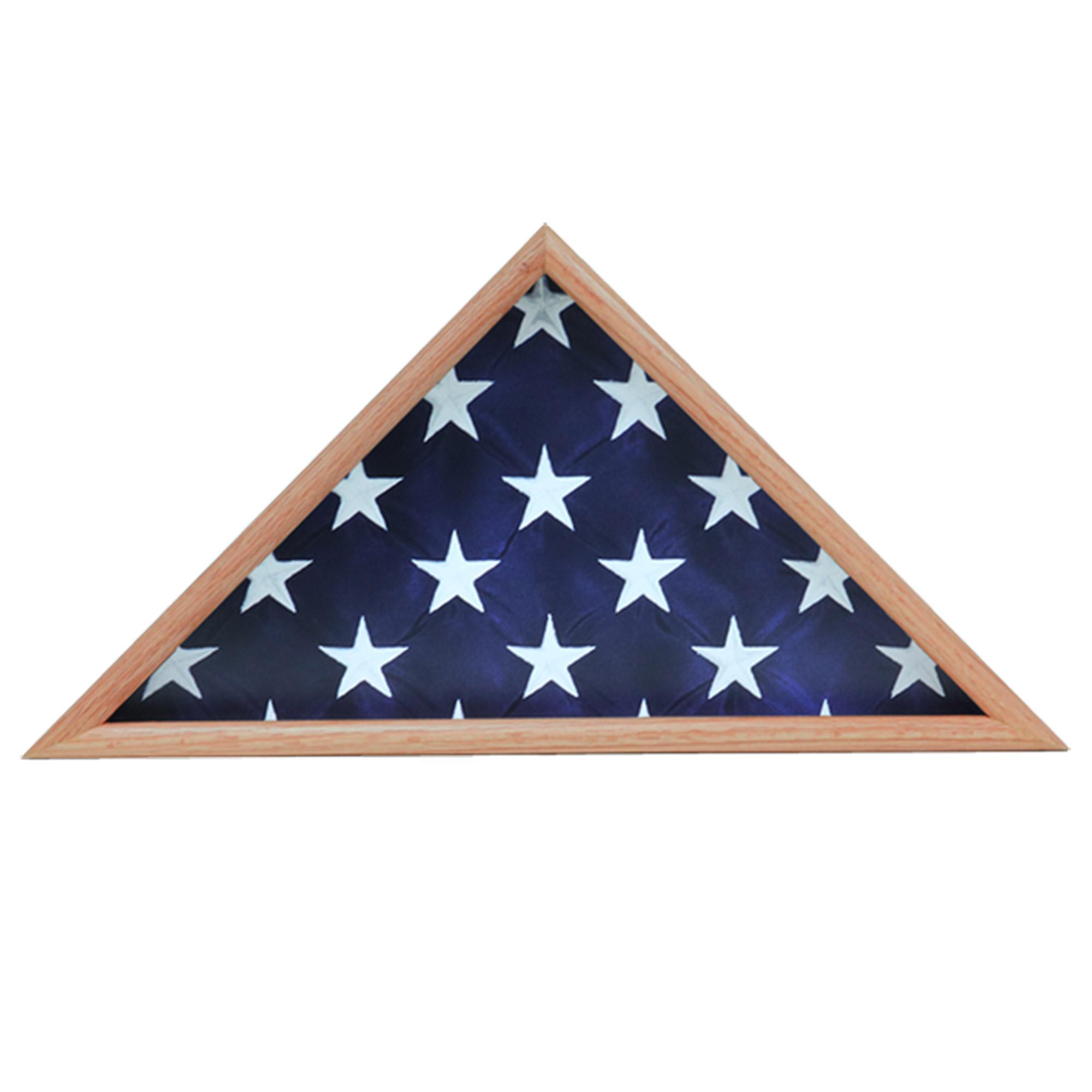 Memorial Flag Case, Oak