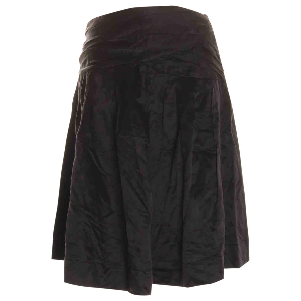 Maje \N Black Cotton skirt for Women 38 FR