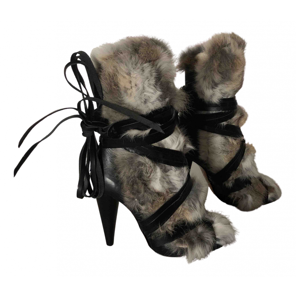 Isabel Marant N Multicolour Rabbit Ankle boots for Women 37 EU