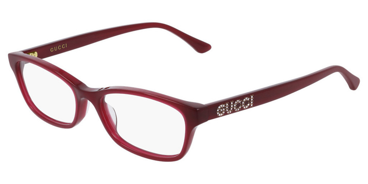 Gucci GG0730O 007 Women's Glasses Red Size 50 - Free Lenses - HSA/FSA Insurance - Blue Light Block Available