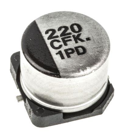 Panasonic 220μF Electrolytic Capacitor 16V dc, Surface Mount - EEEFK1C221P (5)