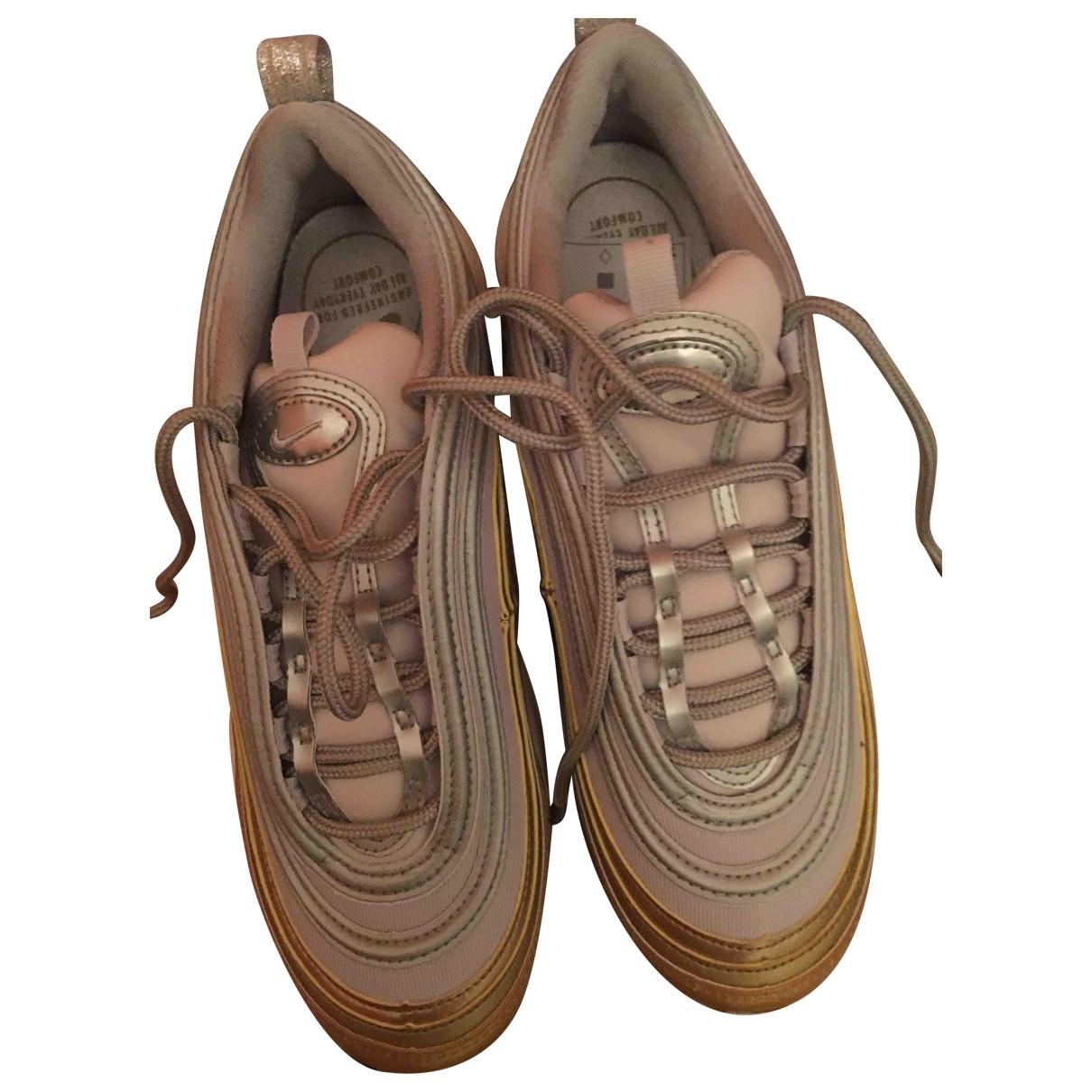 Nike - Baskets Air Max 97 pour femme en cuir - dore