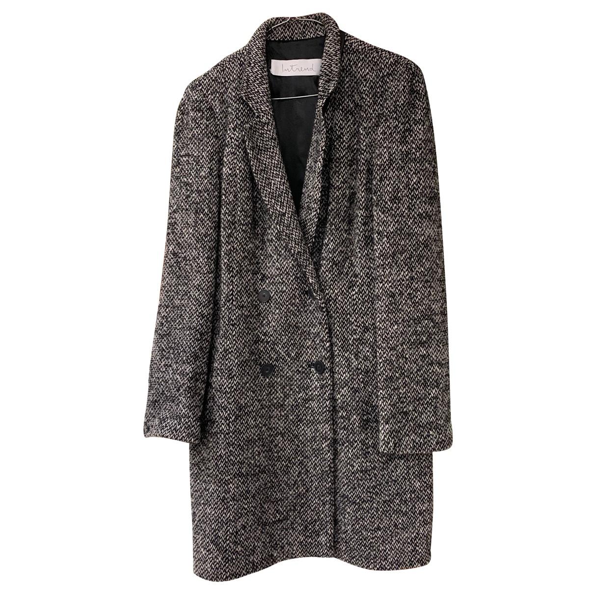 Intrend - Manteau   pour femme en laine - multicolore