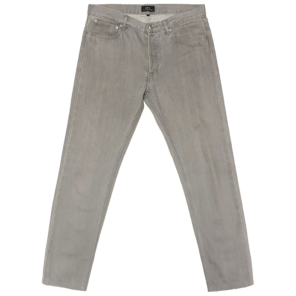 Apc \N Grey Cotton Jeans for Men 30 US