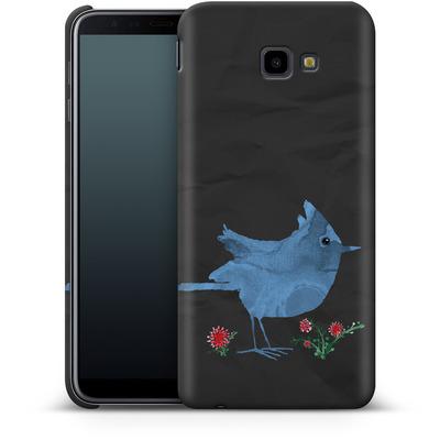 Samsung Galaxy J4 Plus Smartphone Huelle - Watercolour Bird Black von caseable Designs