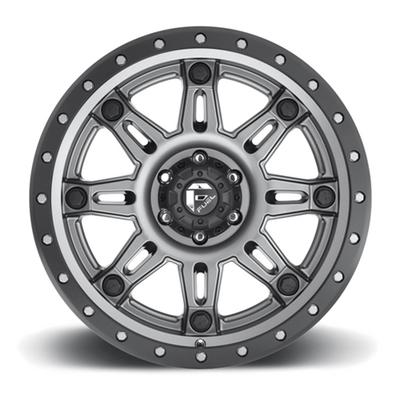 Hostage III D568, 18x9 Wheel with 5 on 5 Bolt Pattern - Matte Gun with Black Ring