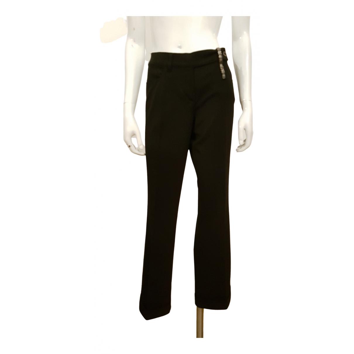 Moschino - Pantalon   pour femme en laine - noir