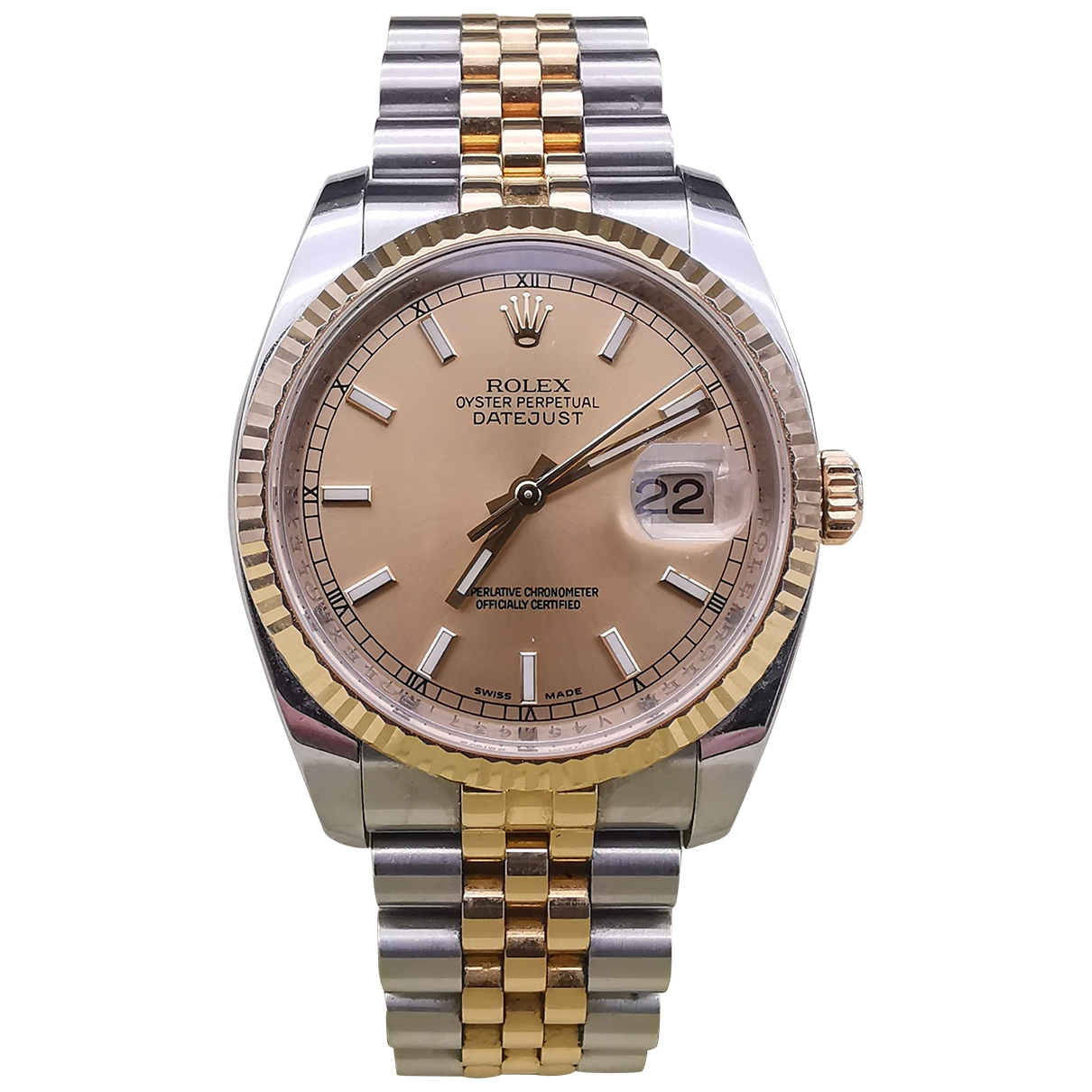 Rolex Oyster Perpetual 36mm Grey gold and steel watch for Men \N