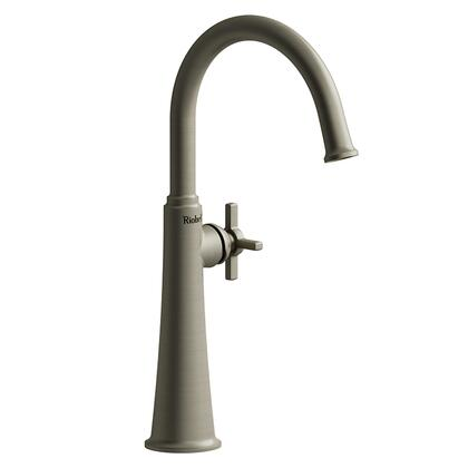 Momenti MMRDL01+BN-10 Single Hole Lavatory Faucet with + Cross Handle 1.0 GPM  in Brushed