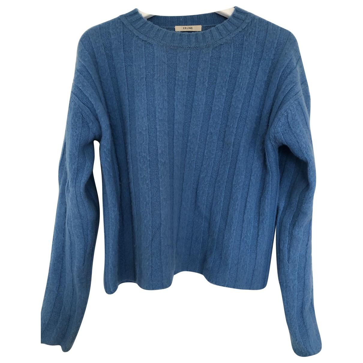 Celine N Blue Wool Knitwear for Women XS International